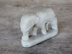 19th Century Marble Elephant from temple offering